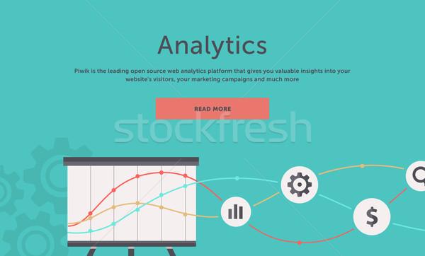 Seo programozás háló analitika elemek optimalizálás Stock fotó © robuart