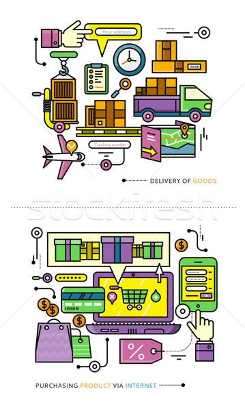 Purchasing, Delivery of Product via Internet Stock photo © robuart