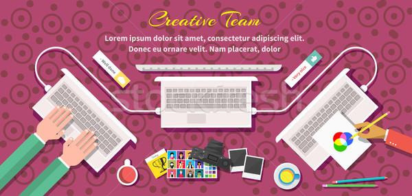 Creative Team Design Flat Style Stock photo © robuart