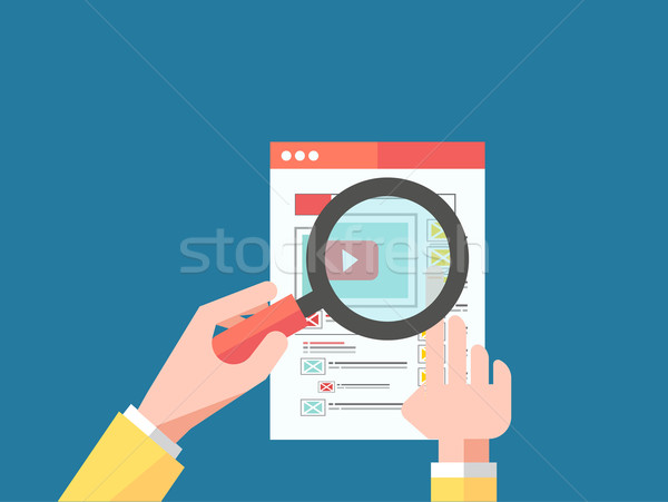 Magnifying Glass Data Analysis Stock photo © robuart