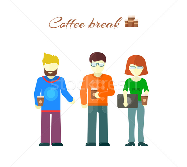 Business Team on Coffee Break Stock photo © robuart