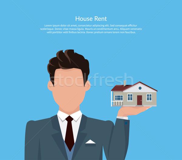 Ház bérlés ár terv üzlet birtok Stock fotó © robuart