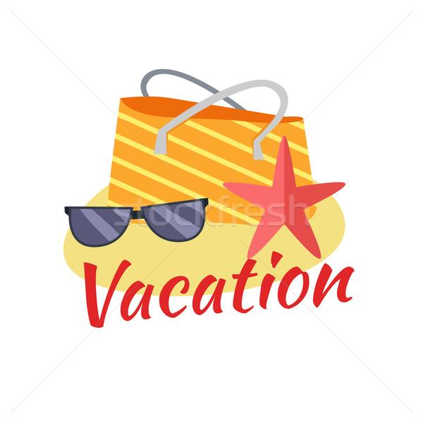 Férias de verão praia tropical ilustração lazer tropical ensolarado Foto stock © robuart