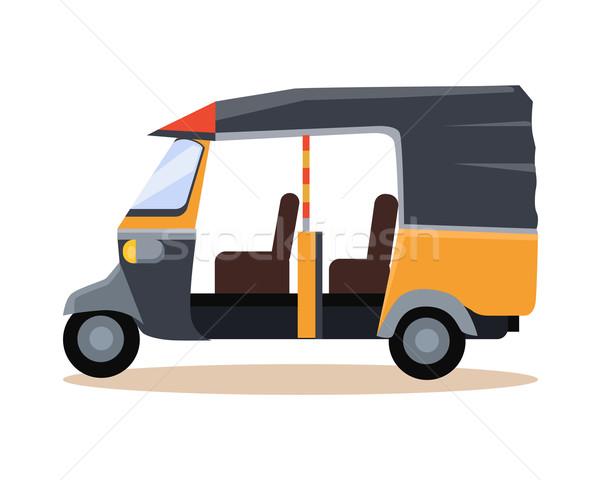 Asian taxi icon asia reizen illustratie Stockfoto © robuart