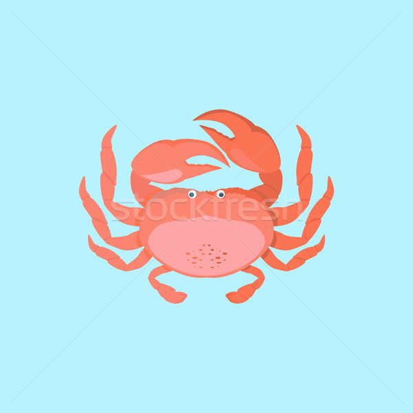Funny Cartoon Crab Stock photo © robuart