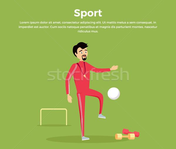 Sport Concept Vector Illustration in Flat Design. Stock photo © robuart