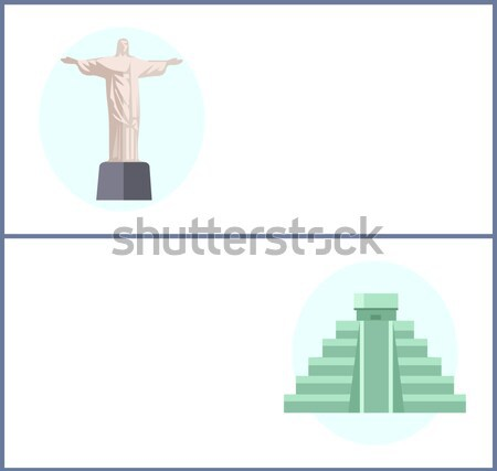 Rio De Janeiro Flat Background Vector Stock photo © robuart