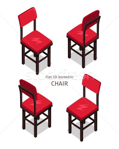 Rojo silla ilustración proyección cuatro Foto stock © robuart