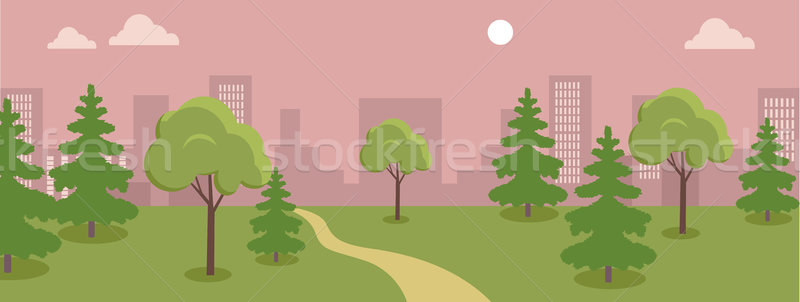 Urban Cityscape with Park. Stock photo © robuart