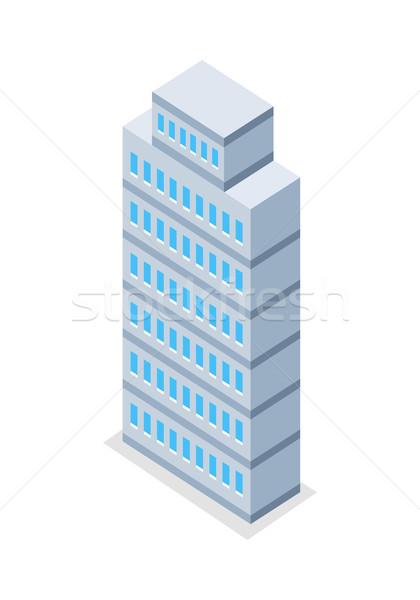 Arranha-céu ilustração isométrica projeção alto edifício Foto stock © robuart