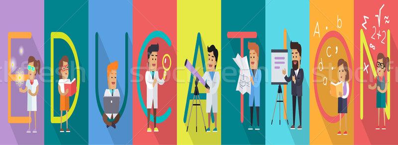 Education Banner. Science Alphabet. Stock photo © robuart