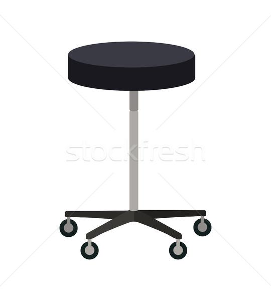 Stool on Wheels Vector Illustration In Flat Design Stock photo © robuart