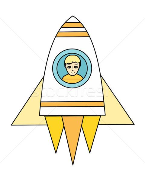 űrhajó fiú ikon rakéta üzlet dizájn elem Stock fotó © robuart