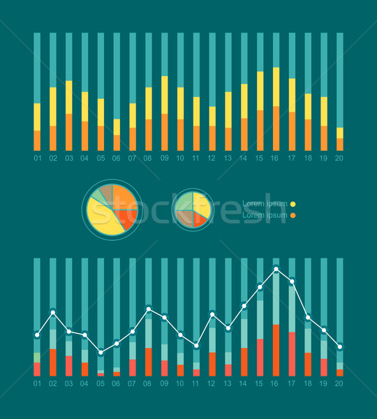Graphs and Charts Show Weather Changing. Vector Stock photo © robuart