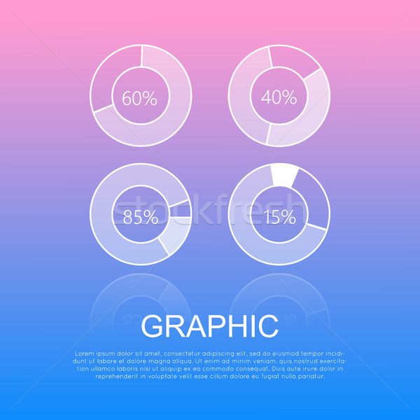 Round Graphics Template Design with Info Text Stock photo © robuart