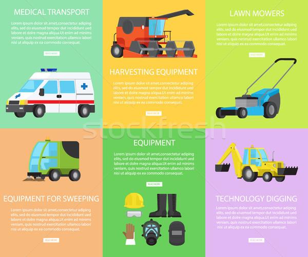 Ingesteld werknemer uitrusting engineering vervoer oogst Stockfoto © robuart