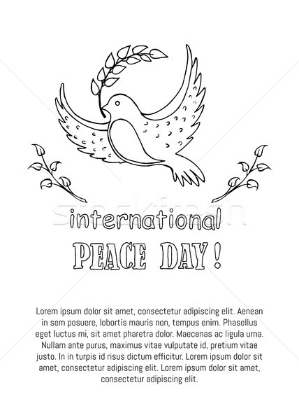 International Peace Day Vector Illustration Poster Stock photo © robuart