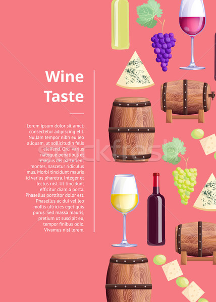 Wine Taste Visualization Vector Illustration Text Stock photo © robuart