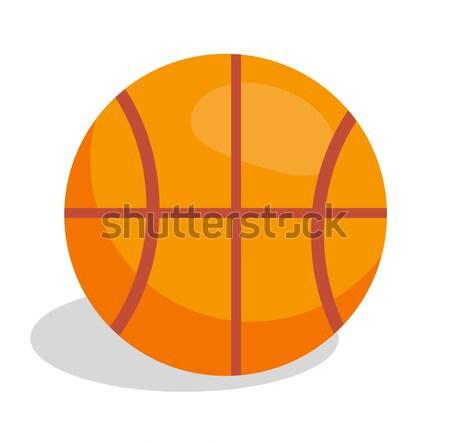 バスケットボール サッカーボール 孤立した 白 ブラウン 革 ストックフォト © robuart