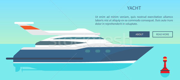 Modern High Speed Yacht Website with Information Stock photo © robuart