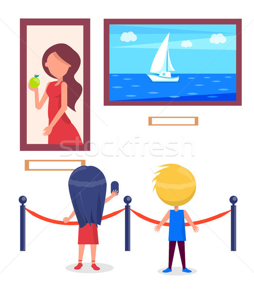 Art Gallery Excursion for School Children Vector Stock photo © robuart