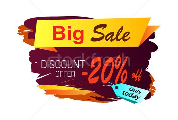 Stock photo: Big Sale Discount -20 Image Vector Illustration