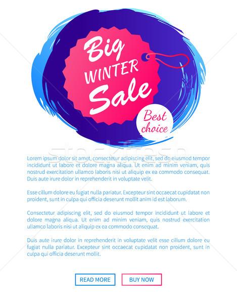 Nagy tél vásár legjobb választás akasztás címke Stock fotó © robuart