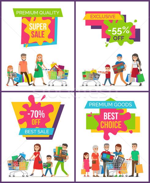 Premium Quality Super Sale Set Vector Illustration Stock photo © robuart