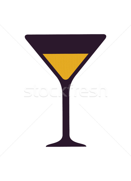 Glass with Alcoholic Drink Vector Illustration Stock photo © robuart