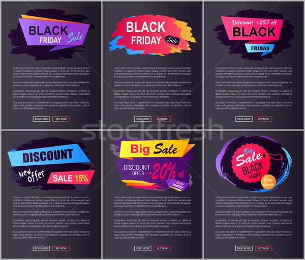 черная пятница большой продажи веб новых предлагать Сток-фото © robuart