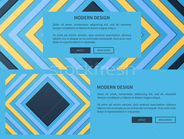 современных дизайна веб синий сайт Сток-фото © robuart
