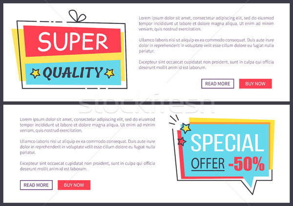 Super Quality and Offer Web Vector Illustration Stock photo © robuart