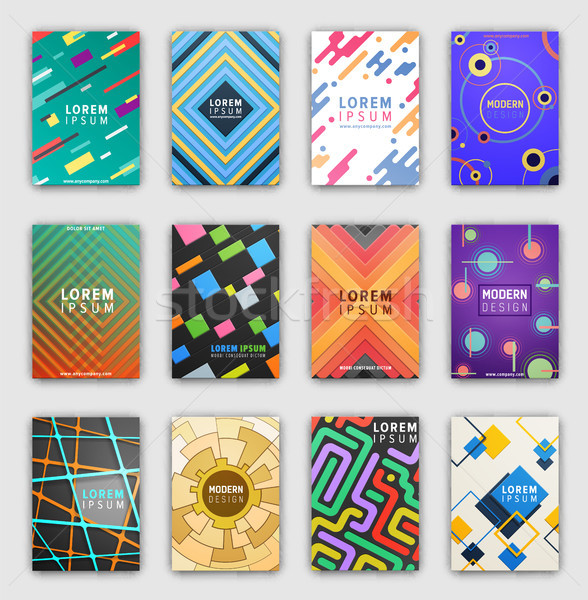 Collection of Cover Pages on Vector Illustration Stock photo © robuart