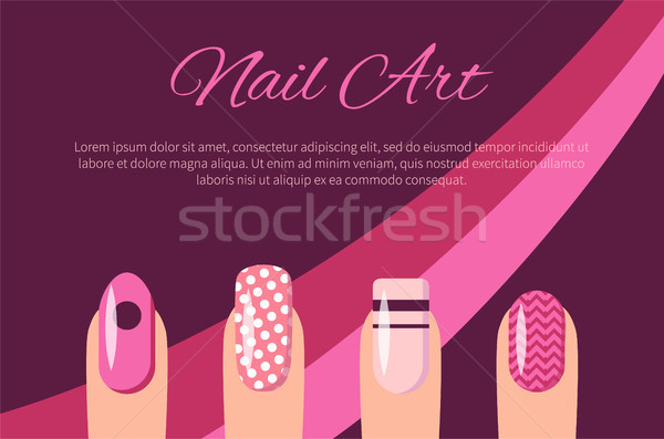 Nail Art Multicolored Poster Vector Illustration Stock photo © robuart