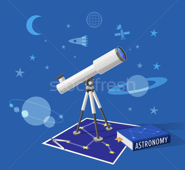 Astronomie classe illustration bleu isolé cartoon Photo stock © robuart
