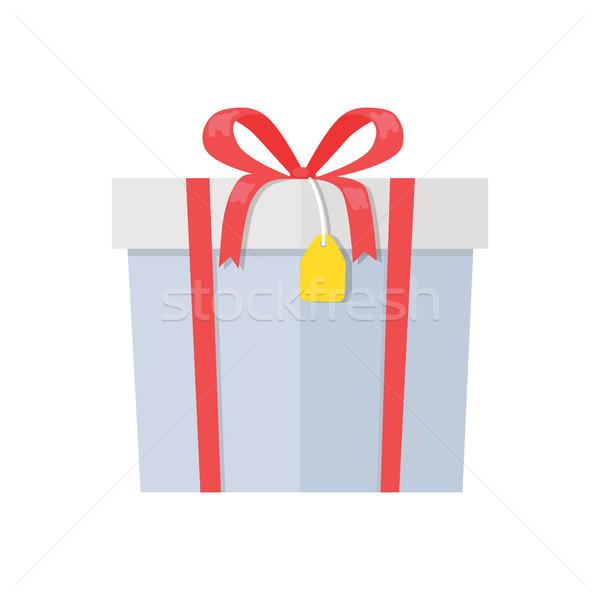 Hediye kutusu dekoratif çizim kağıt ambalaj kırmızı kutu Stok fotoğraf © robuart