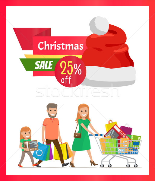 25 Pecrcent Off Christmas Sale Vector Illustration Stock photo © robuart