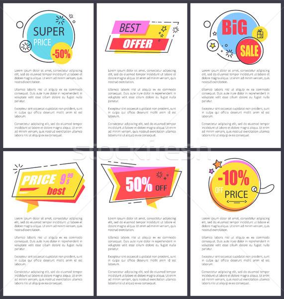 Super Price -50 and Big Sale Vector Illustration Stock photo © robuart