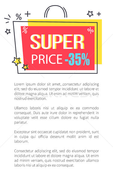 Super Price Promo poster with Shopping Bag Sticker Stock photo © robuart