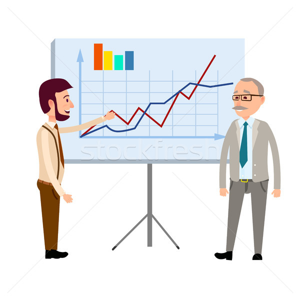 Presentation of Financial Forecast Vector Concept Stock photo © robuart