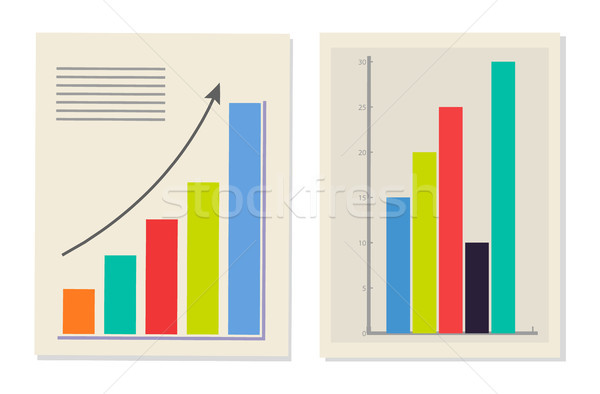 Chart and Graphic Collection Vector Illustration Stock photo © robuart