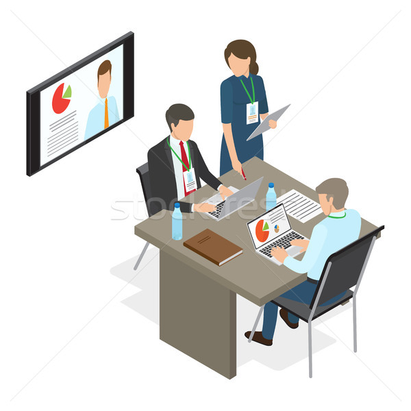 Business People at Table Deciding Working Issues Stock photo © robuart