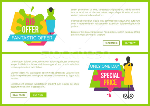 Big Fantastic Offer Only One Day Special Price Stock photo © robuart