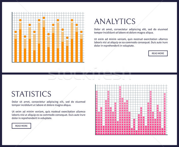 Analytics and Statistics Graphics on Web Pages Stock photo © robuart
