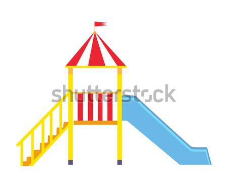 Childrens Playground Set of Posters with Slides Stock photo © robuart