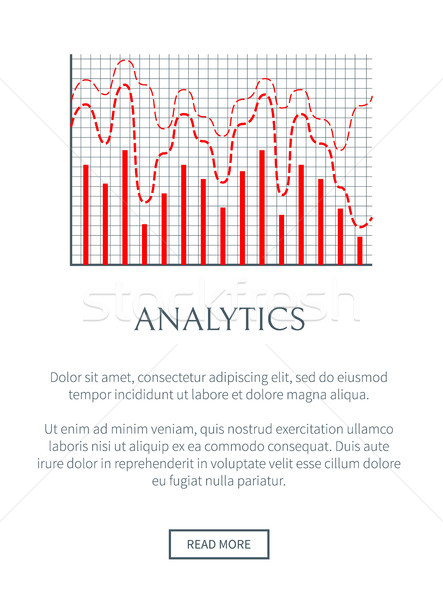Analytics page texte échantillon site web informations Photo stock © robuart