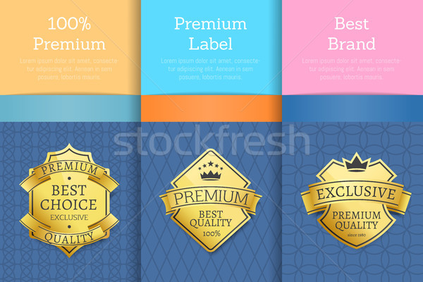 Exclusive Premium Quality Product Gold Labels Set Stock photo © robuart