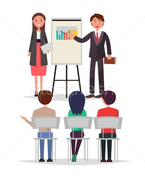 Business Meeting People Set Vector Illustration Stock photo © robuart