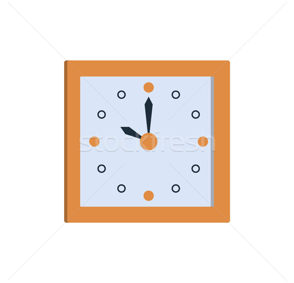 Clock Icon Square Wall Clock Showing Time Vector Stock photo © robuart