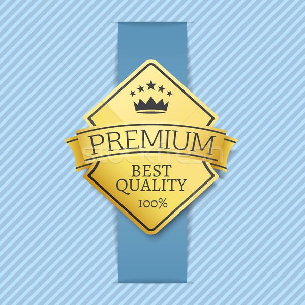 プレミアム ベスト 品質 ラベル クラウン 星 ストックフォト © robuart